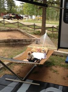 Reg in hammock