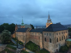 View of Akershus Fortress as we leave Norway