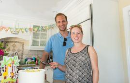 Brooks & Christina at the baby shower