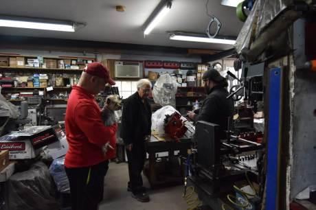 In my Dad's shop