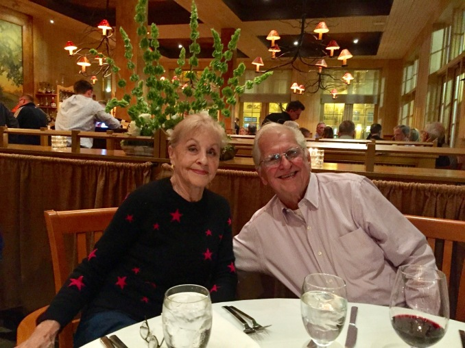 Mom and Dad on his 80th birthday