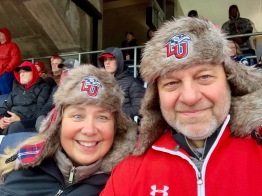 At LU football game on Reg's 60th birthday
