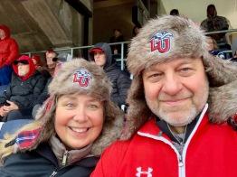 At LU football game on Reg's 60th birthday