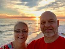 Sunset at the beach
